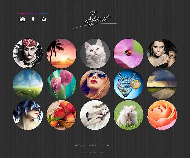 Portfolio Web Template with Creative Photo Gallery - image