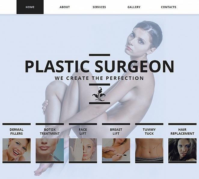 MotoCMS HTML шаблон на тему пластична хірургія New Screenshots BIG