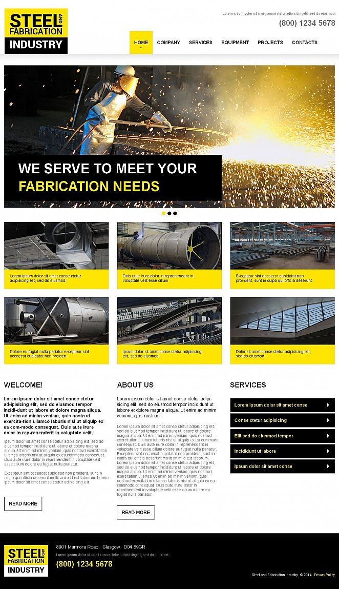 Steel Industry Website Design with CMS - image