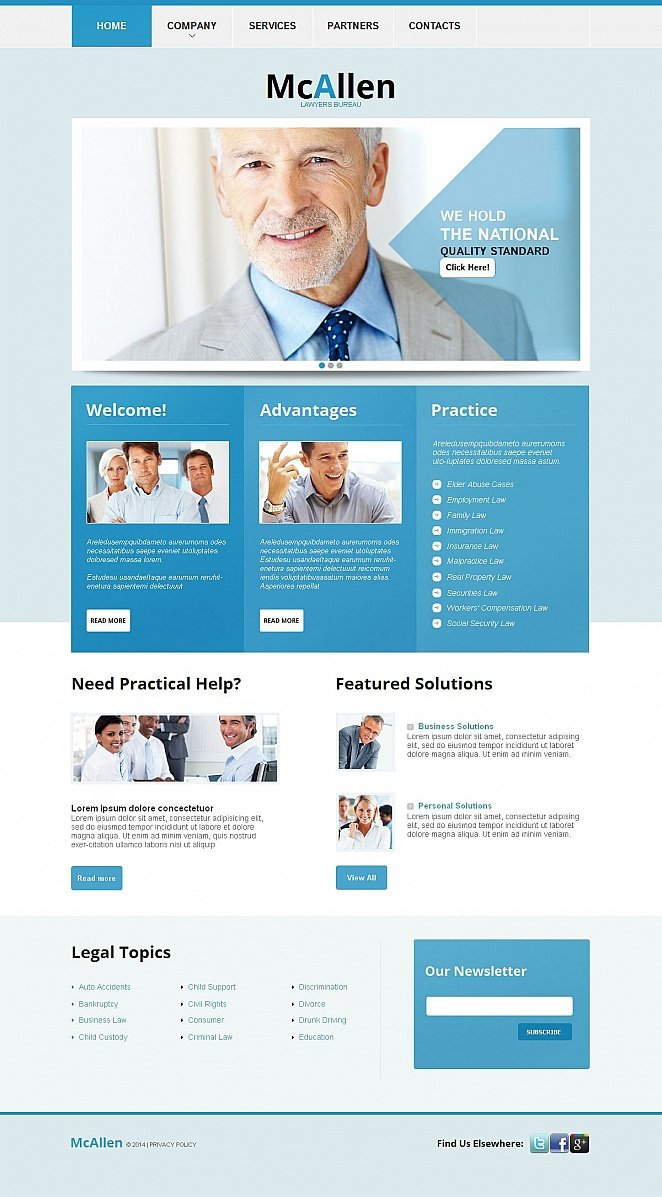 Blue Website Template for Lawyers - image