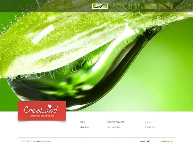 Plantilla Flash CMS #49189 para Sitio de Diseño de paisaje New Screenshots BIG