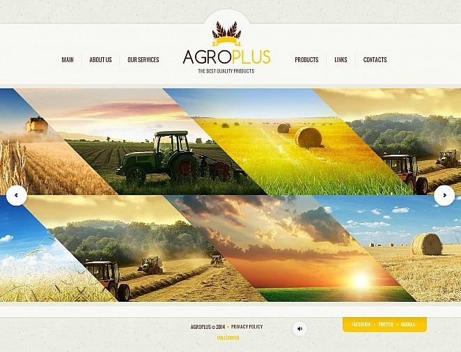 Modèle Flash CMS  pour site agricole New Screenshots BIG