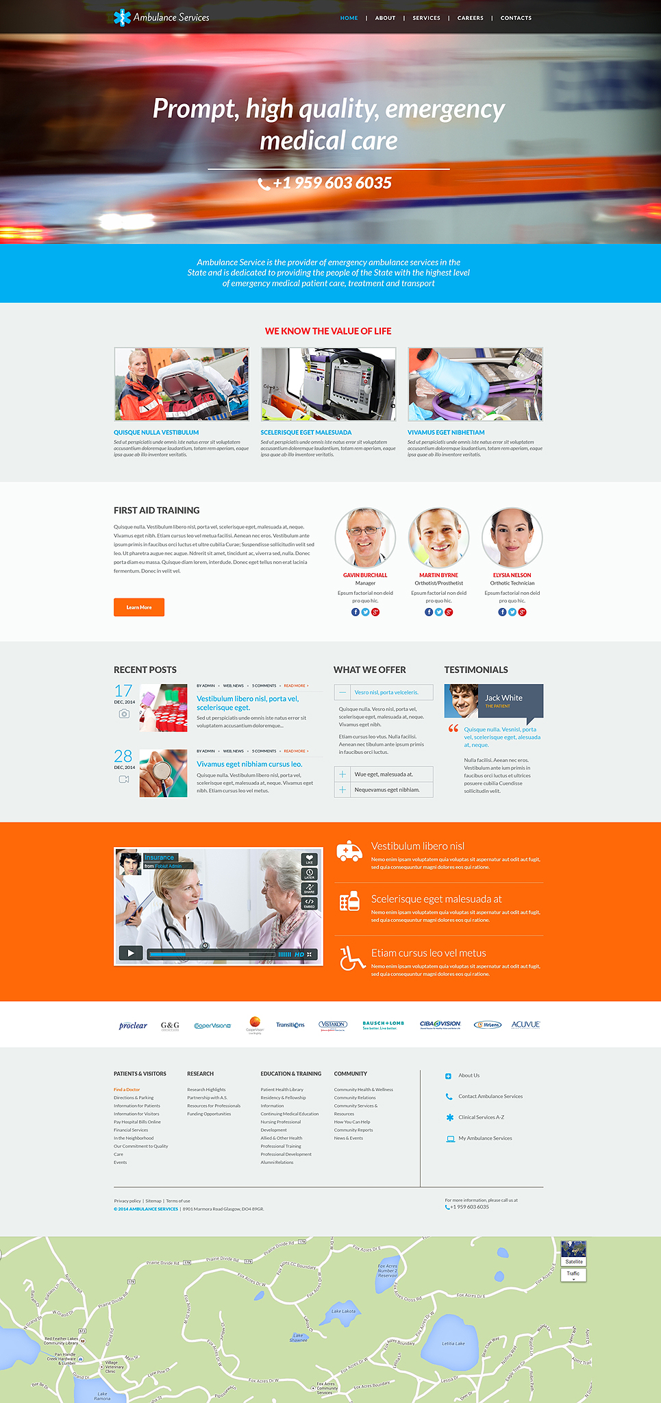 ambulance responsive website template 49110