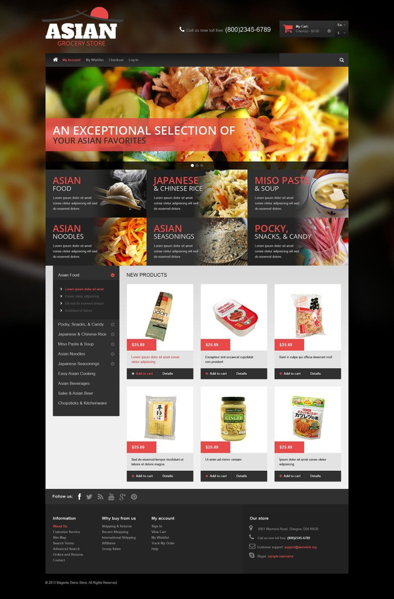 Asian Grocery Magento Theme New Screenshots BIG