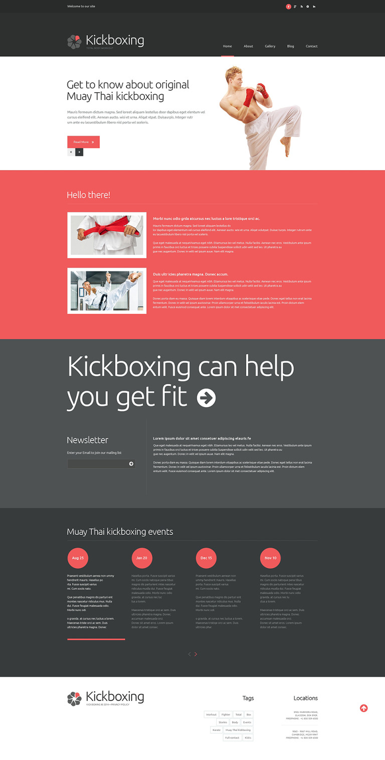 Boxing Responsive Website Template New Screenshots BIG