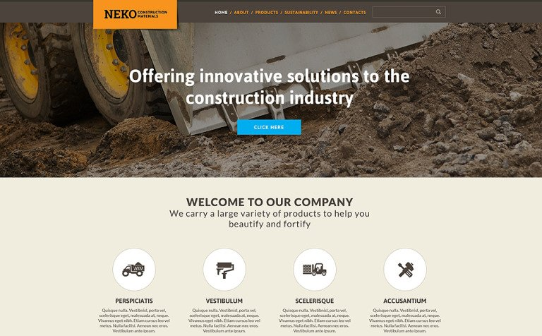 Civil Engineering Responsive Website Template