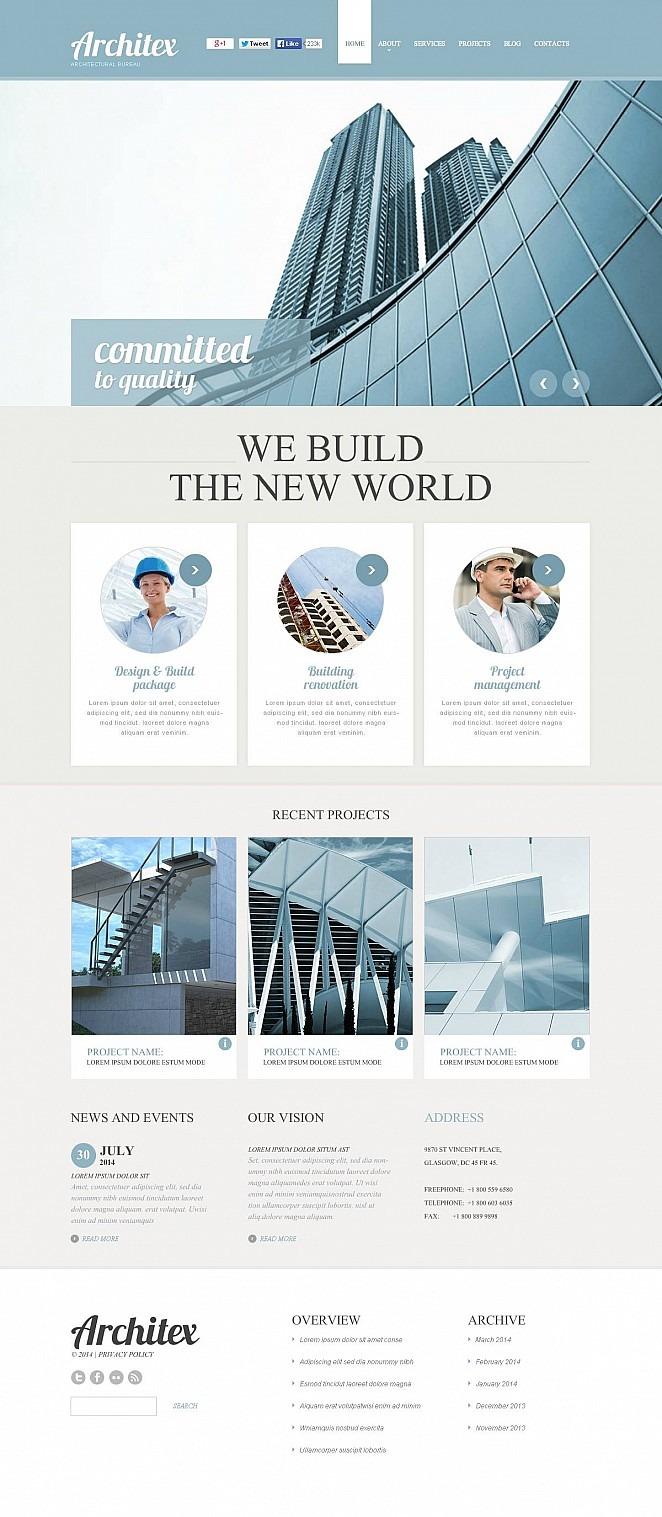 Construction Company Flash CMS Template New Screenshots BIG