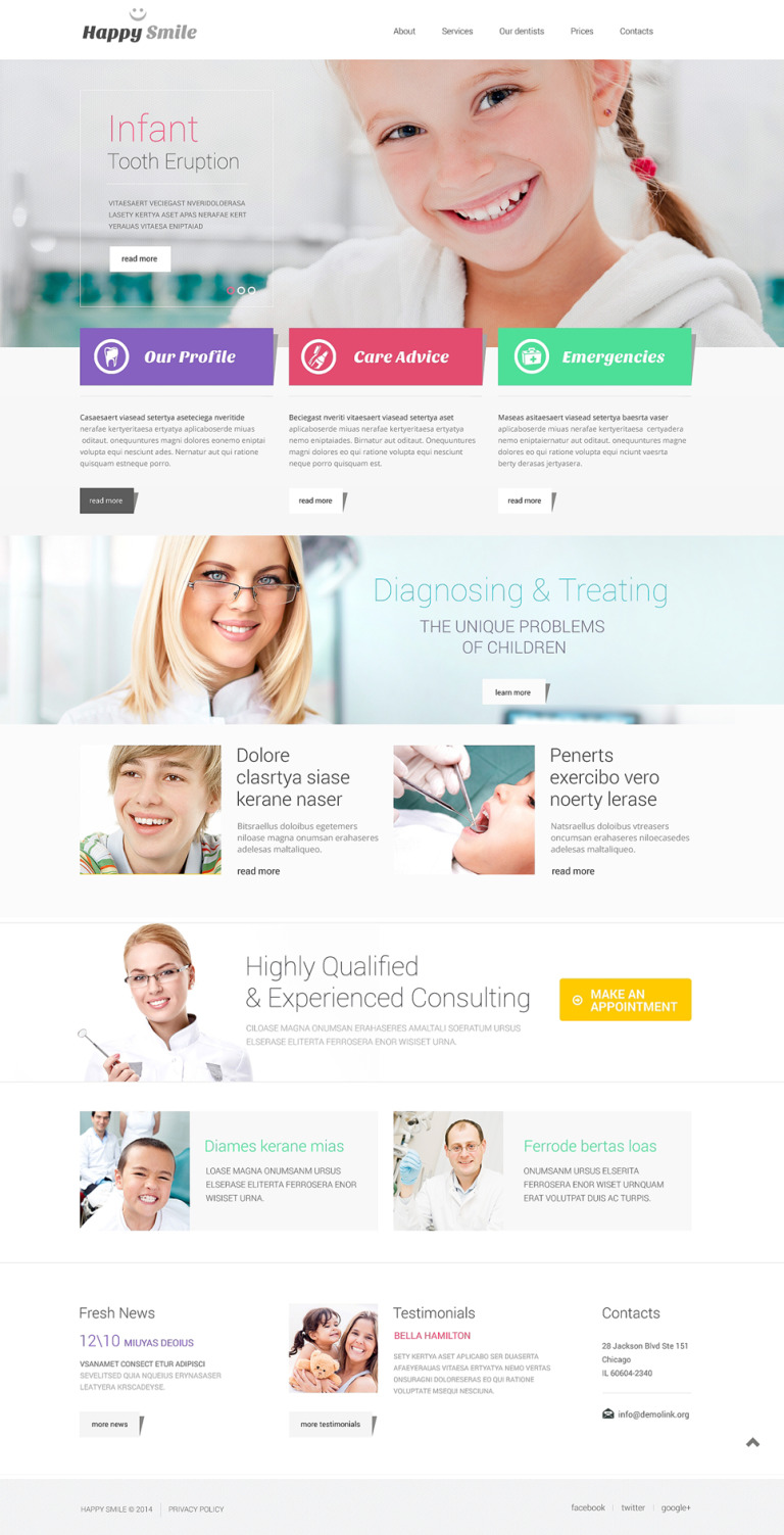 Dentistry Responsive Website Template New Screenshots BIG