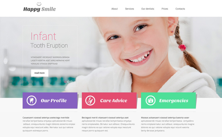 Dentistry Responsive Website Template