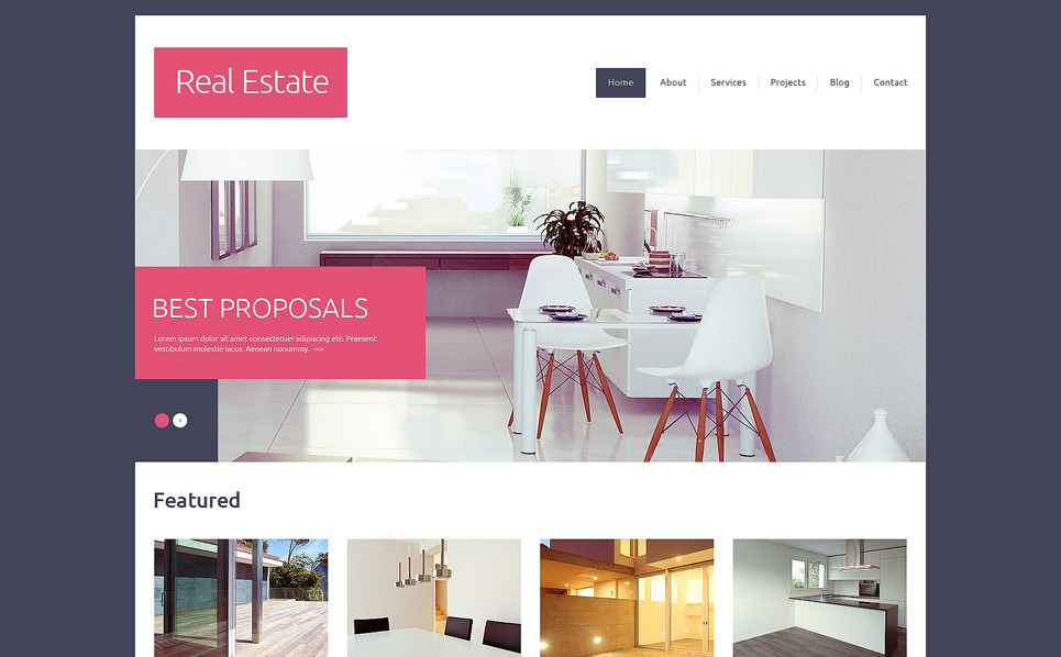 Drupal шаблон на тему агентство нерухомості New Screenshots BIG