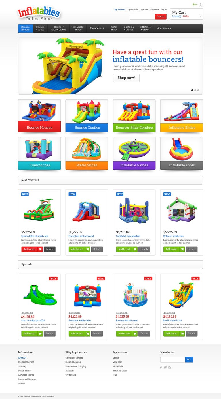 Entertainmnet Responsive Magento Theme New Screenshots BIG