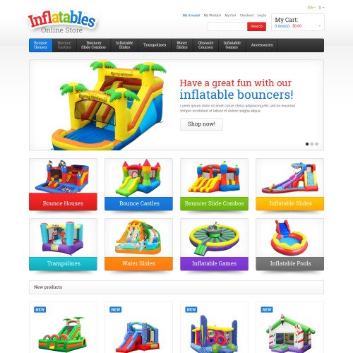 Inflatables - Responsive Magento Template