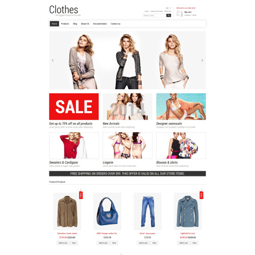 Clothes  - Shopify Template based on Bootstrap