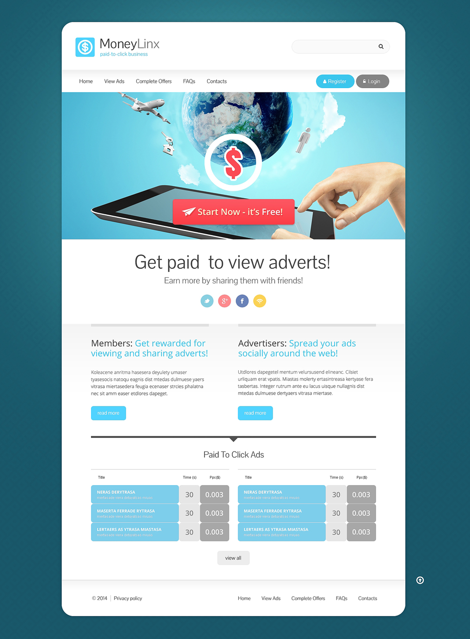Financial Advisor Responsive Website Template  49115