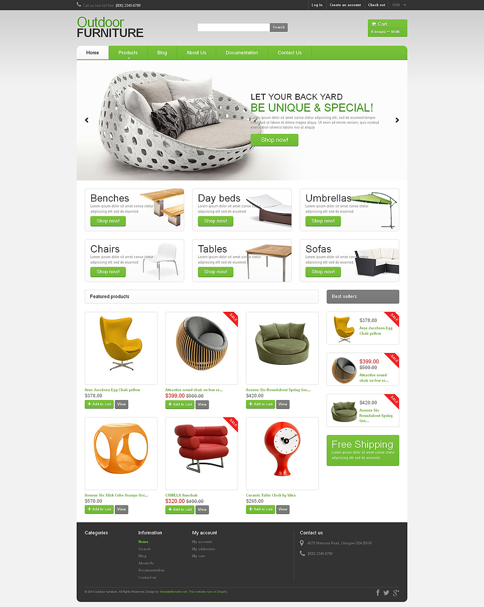 Furniture Responsive Shopify Theme New Screenshots BIG