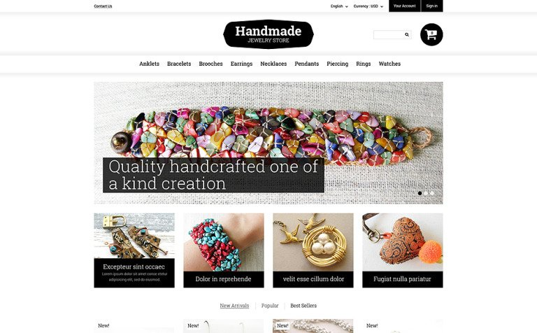 Handmade Jewelry PrestaShop Theme