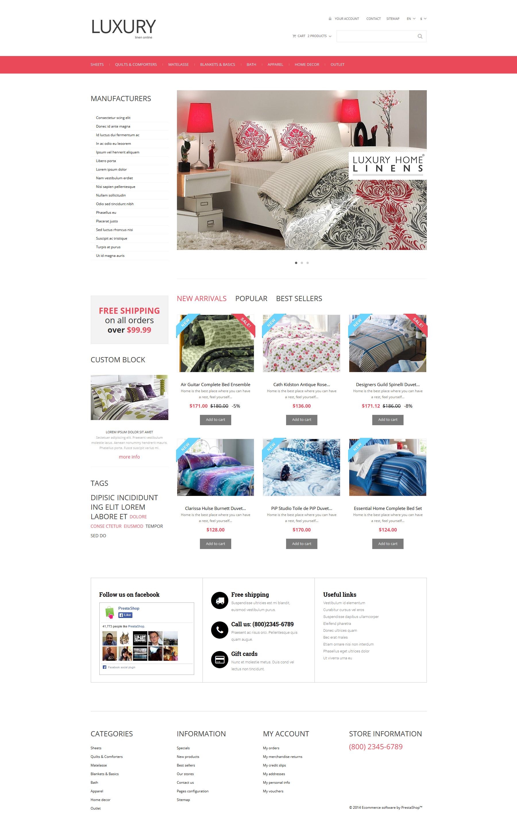 Linen Store PrestaShop Theme
