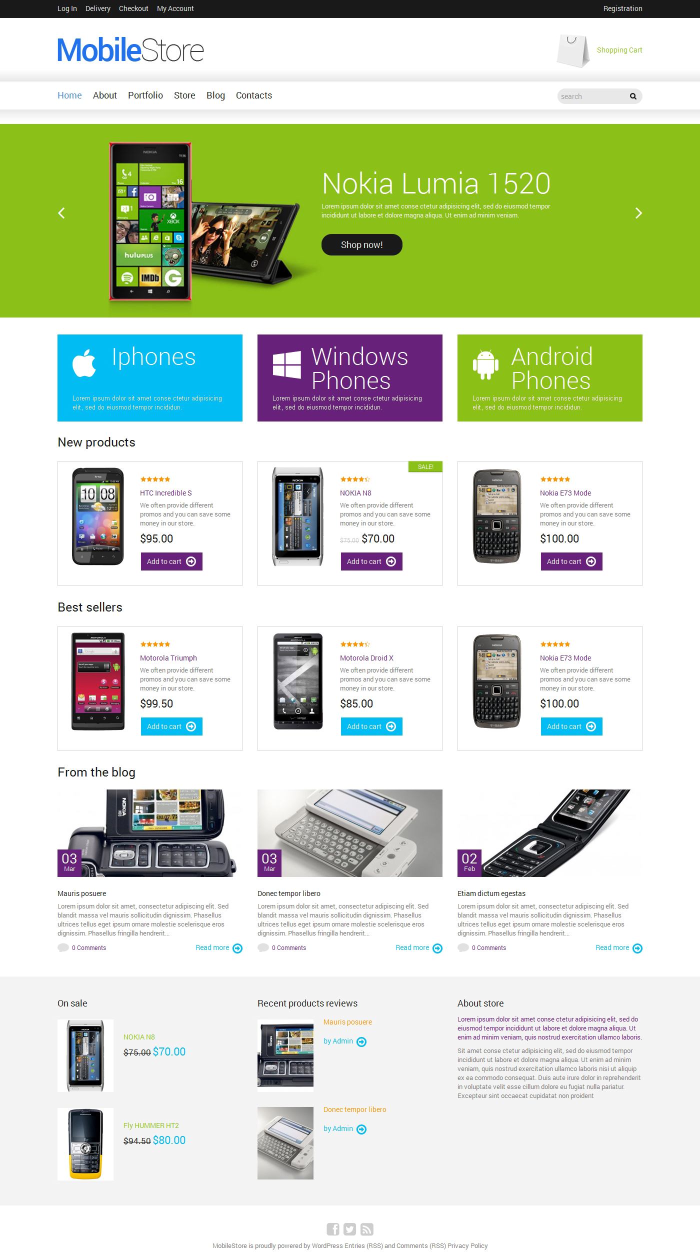 Mobile Phones Store WooCommerce Themes