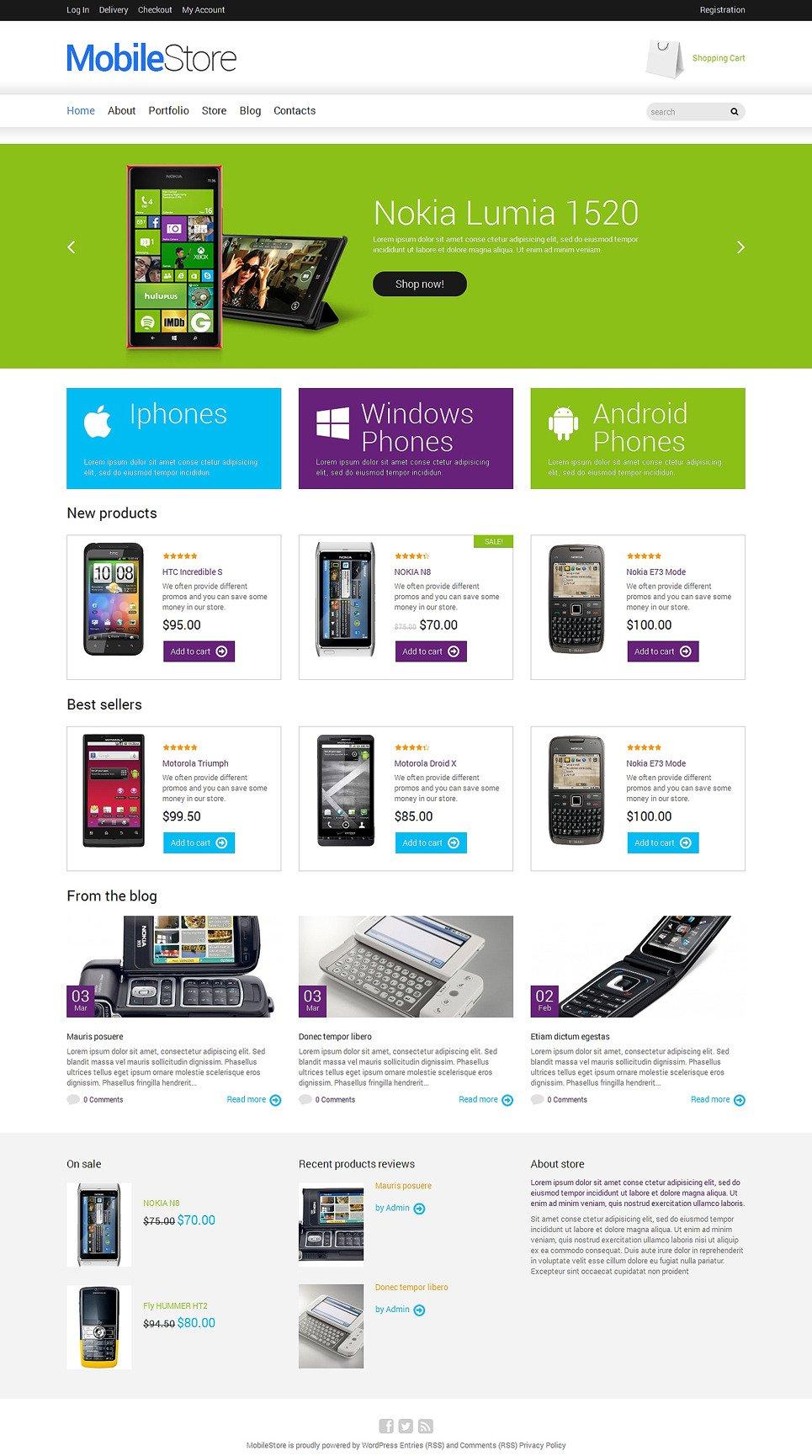 Mobile Store Responsive WooCommerce Theme New Screenshots BIG