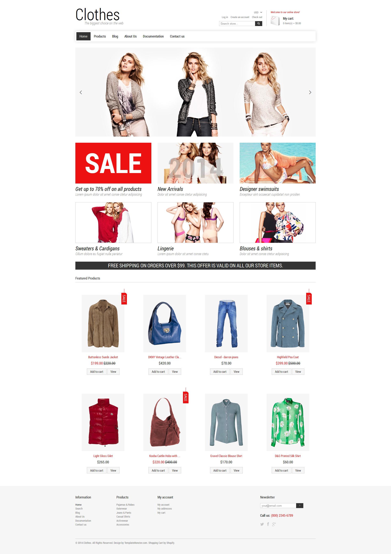 Modello Shopify Responsive #49109 per Un Sito di Fashion Store