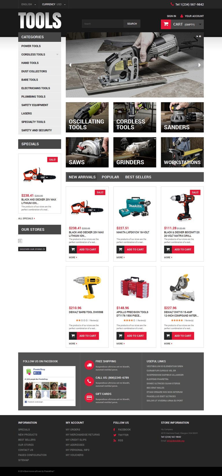 Online Tools PrestaShop Theme New Screenshots BIG