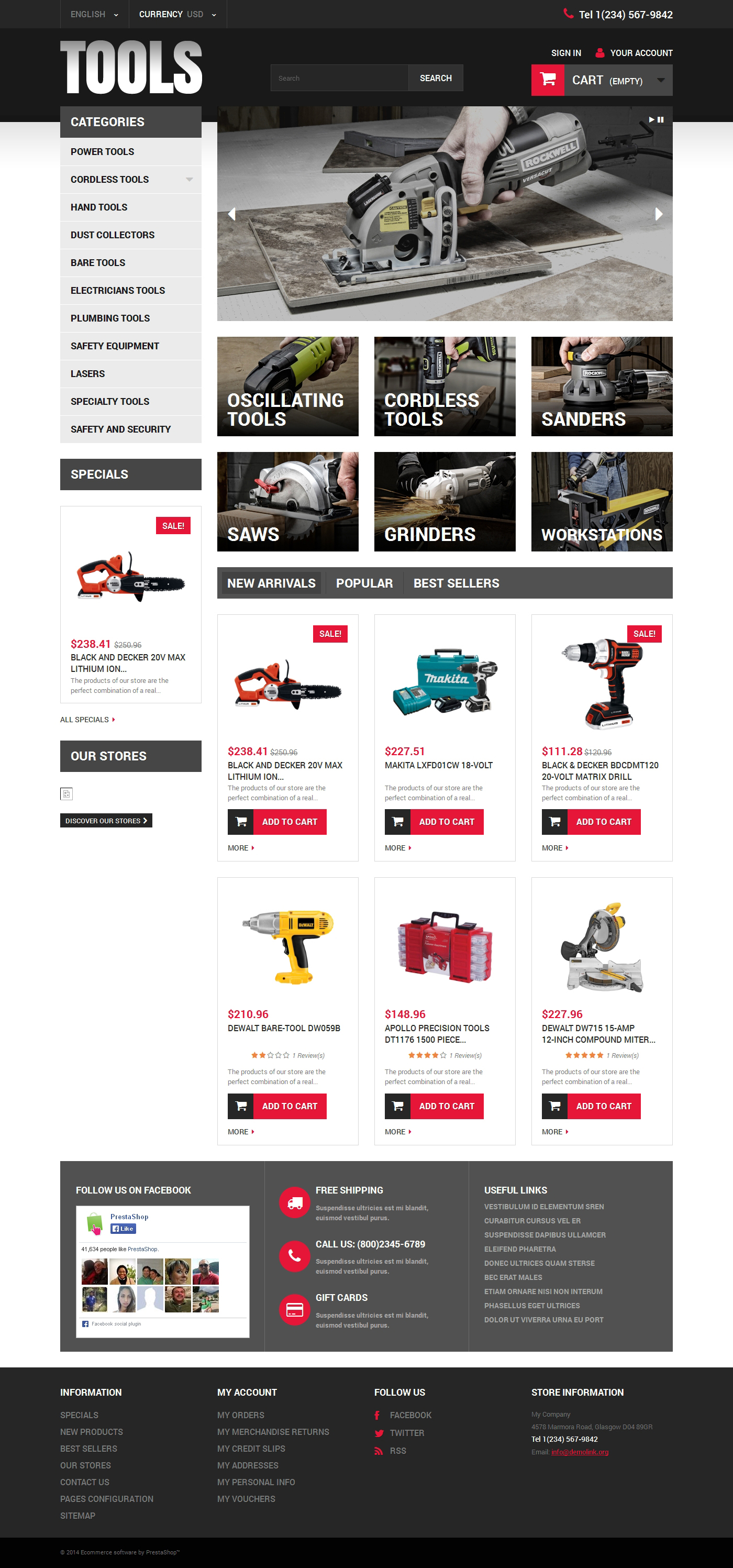 Online Tools PrestaShop Theme - screenshot