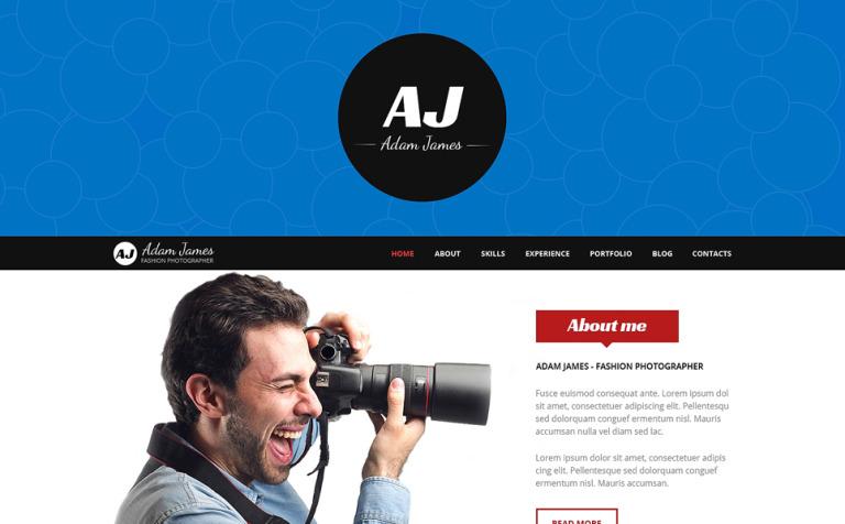 Page of Fashion Photographer WordPress Theme