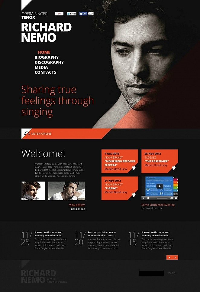 Personal Page Flash CMS Template New Screenshots BIG