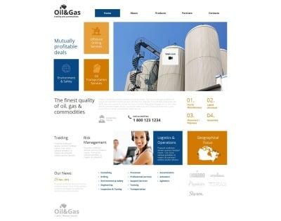 Plantilla Moto CMS HTML #49183 para Sitio de  para Sitio de Gas y petróleo