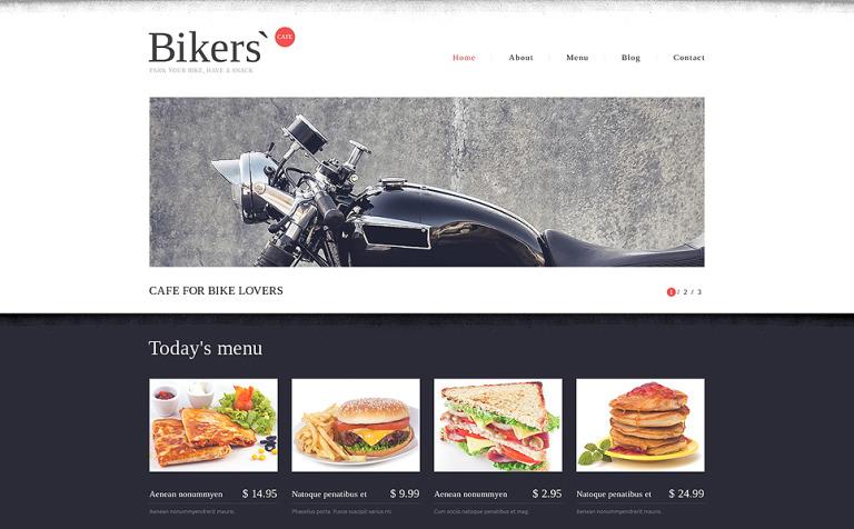 Plantilla Web #49111 para Sitio de Restaurantes de comida rápida