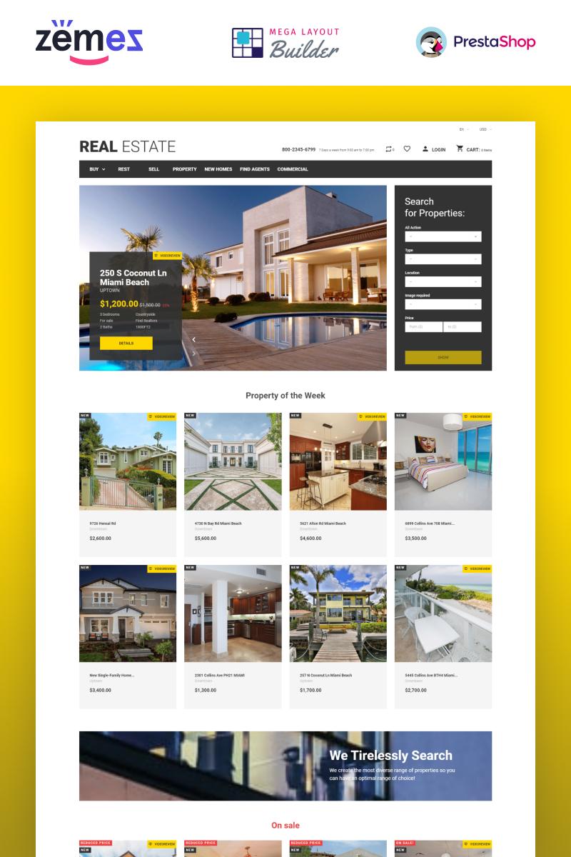 "PrestaShop Theme namens ""Real Estate Business"" #49108"