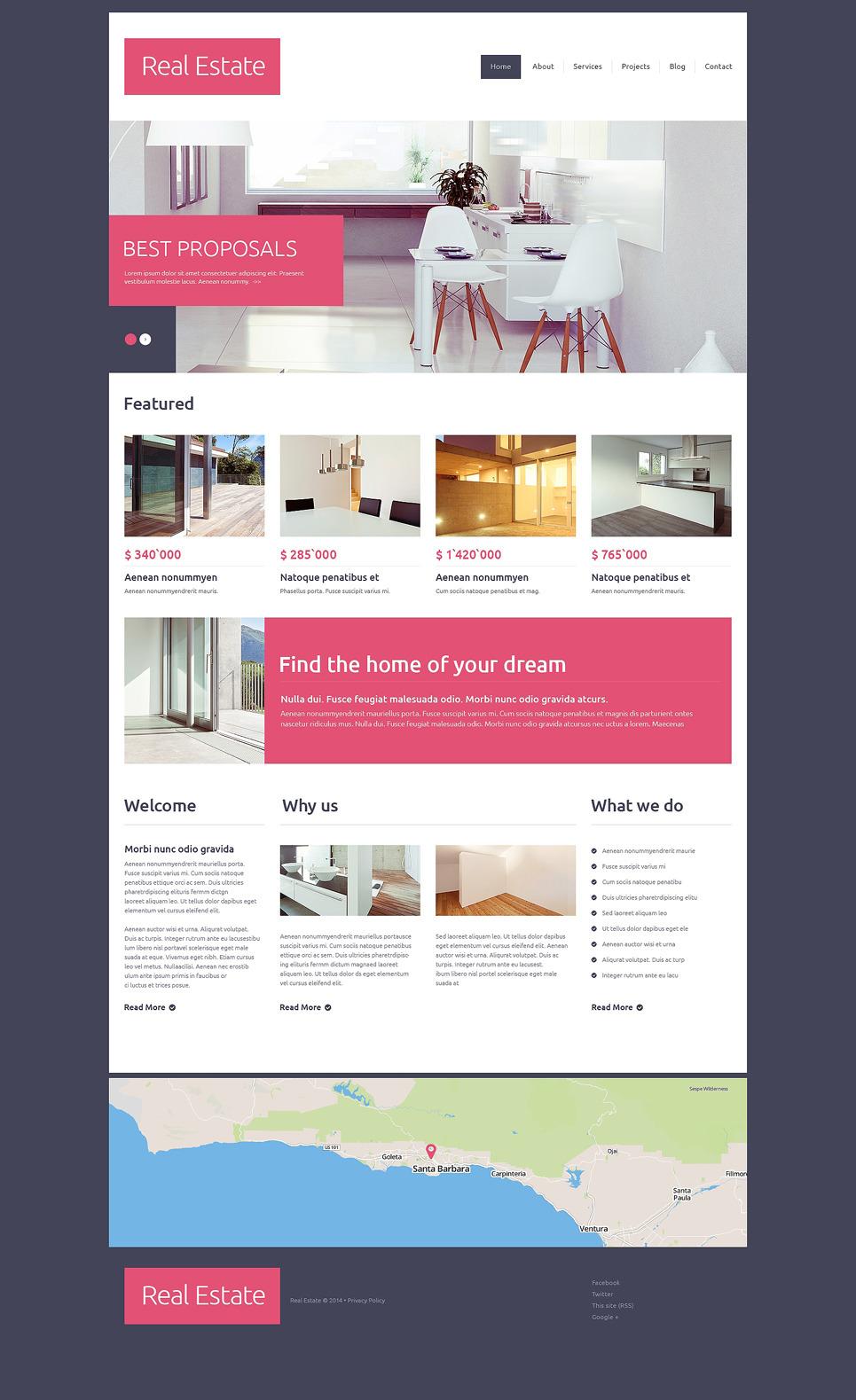 Real Estate Agency Drupal Template 49100