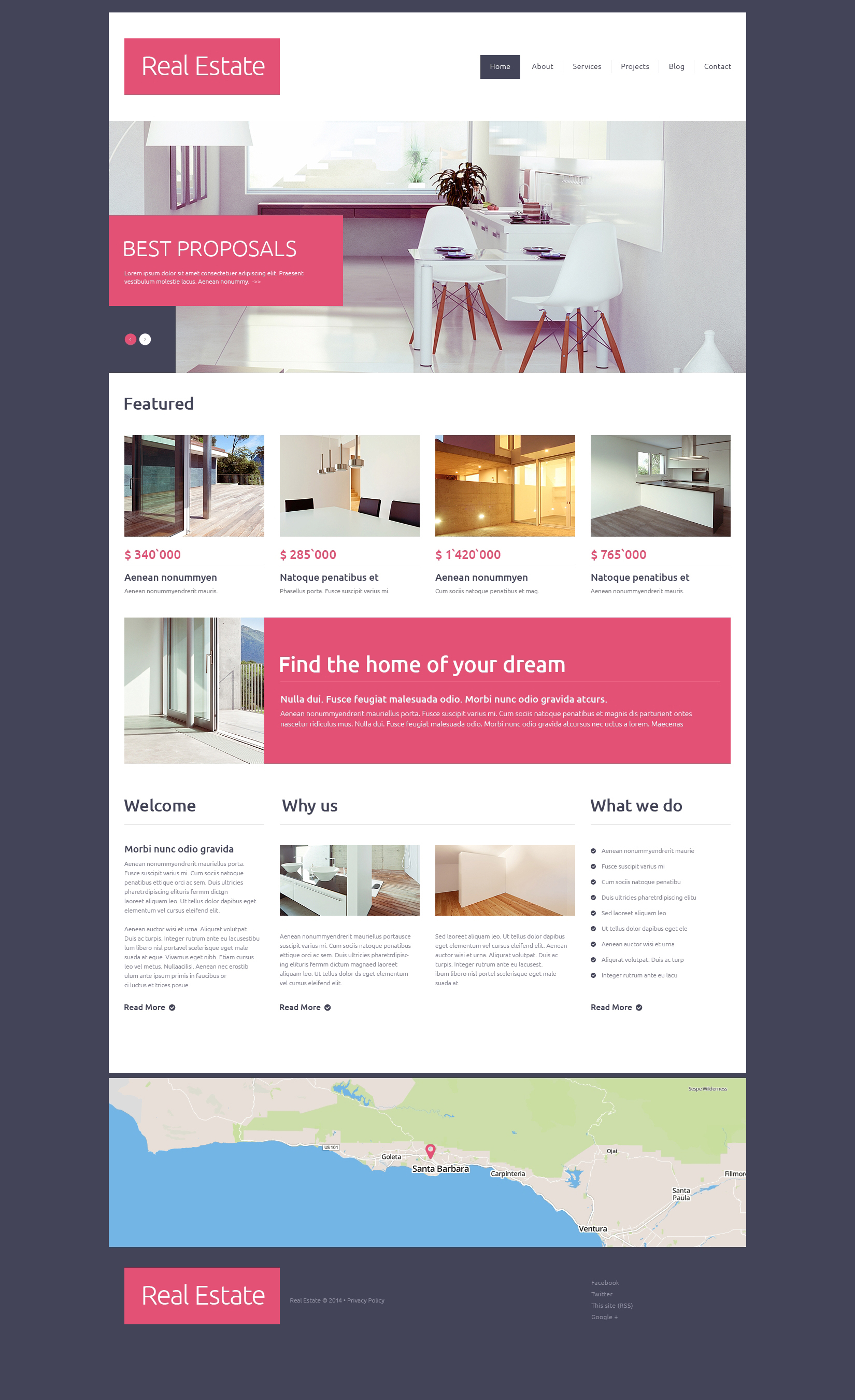 Real estate agency drupal template 49100 for Drupal custom view template