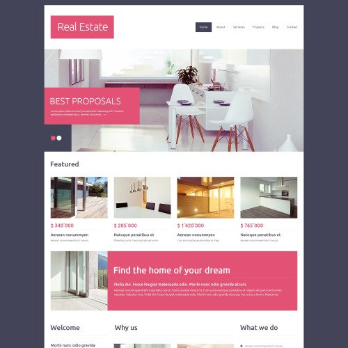 Real Estate - HTML5 Drupal Template