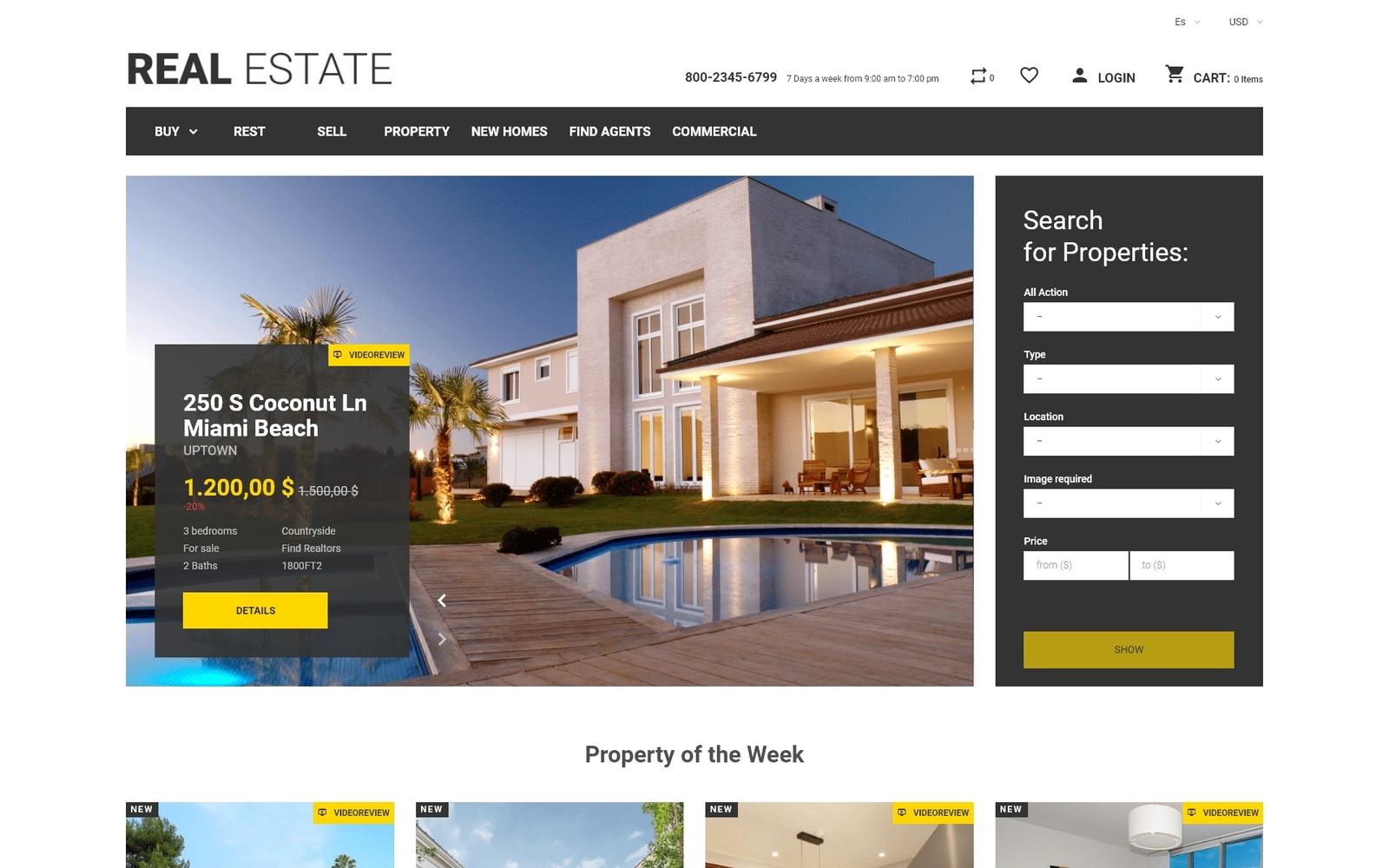 """Real Estate Business PrestaShop Theme"" Responsive PrestaShop Thema №49108"