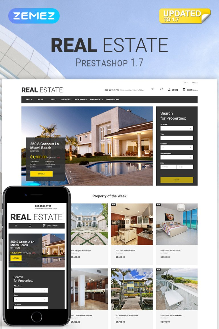 Real Estate Business PrestaShop Theme New Screenshots BIG