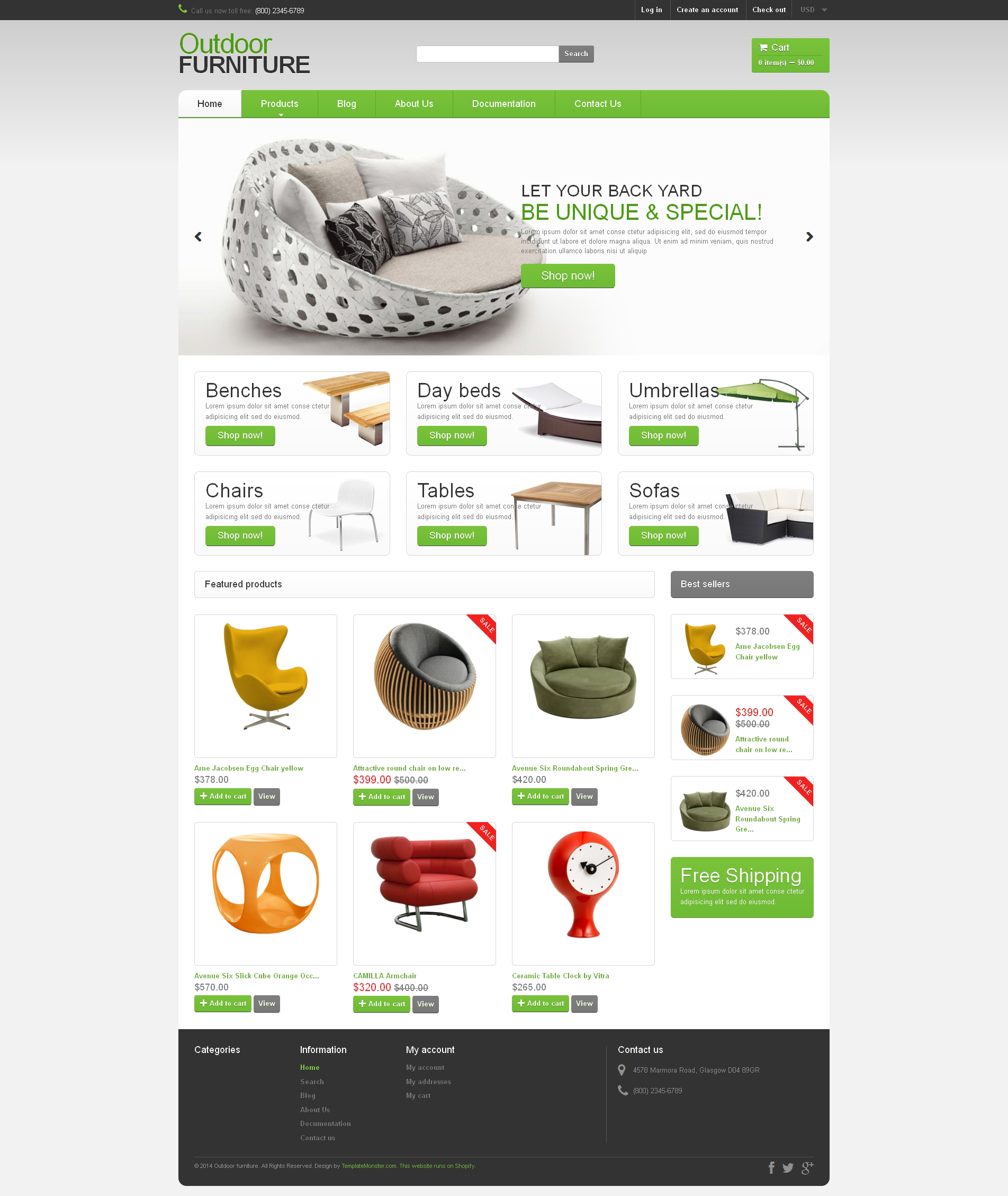 Responsywny szablon Shopify #49160 na temat: meble - zrzut ekranu
