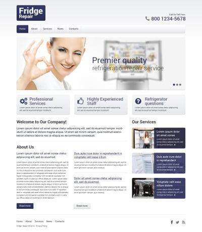 Maintenance Services Responsive Šablona Webových Stránek