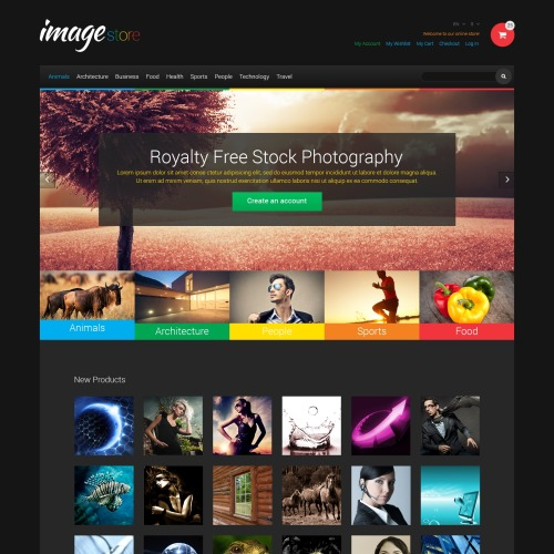 Image Store - Responsive Magento Template