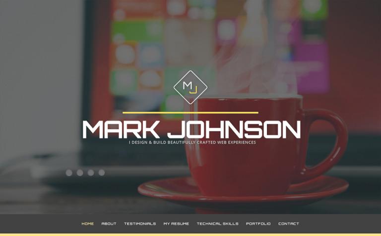 Tema de WordPress #49158 para Sitio de Portafolios de diseñadores