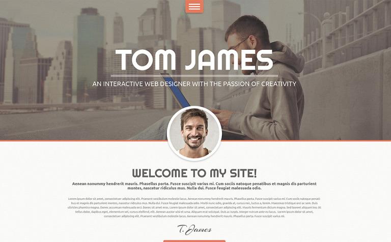 Tema de WordPress #49159 para Sitio de Portafolios de diseñadores