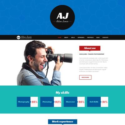 Tema de WordPress #49155 para Sitio de Portafolios de fotógrafos