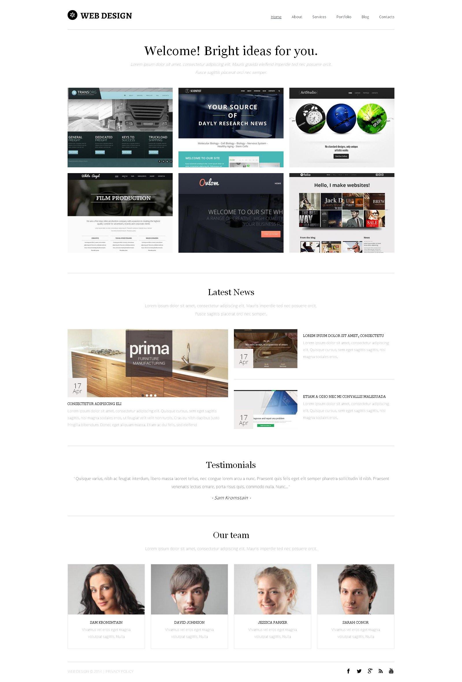Template Drupal para Sites de Estúdio de Design №49162