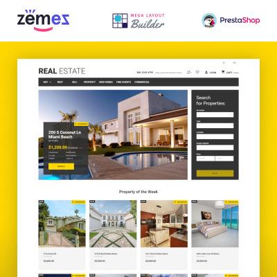 Real Estate Agency Responsive Tema PrestaShop