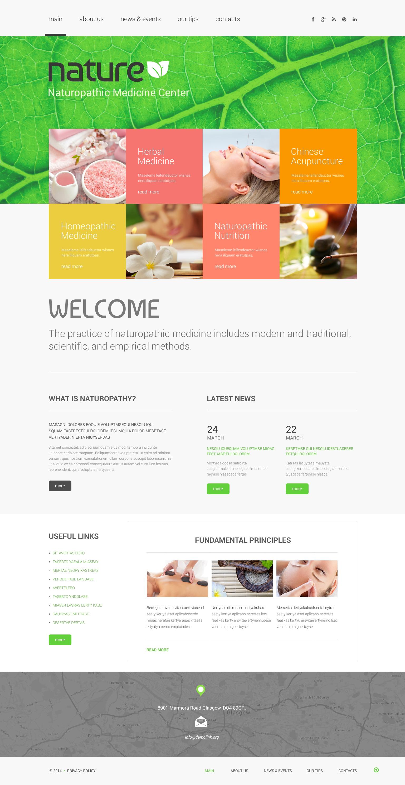 Template Web Flexível para Sites de Herbal №49118 - captura de tela