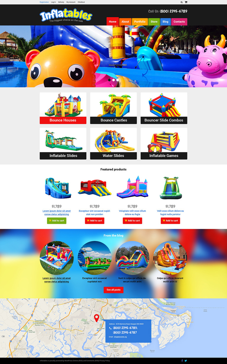 Trampolines Bouncers Store WooCommerce Theme New Screenshots BIG