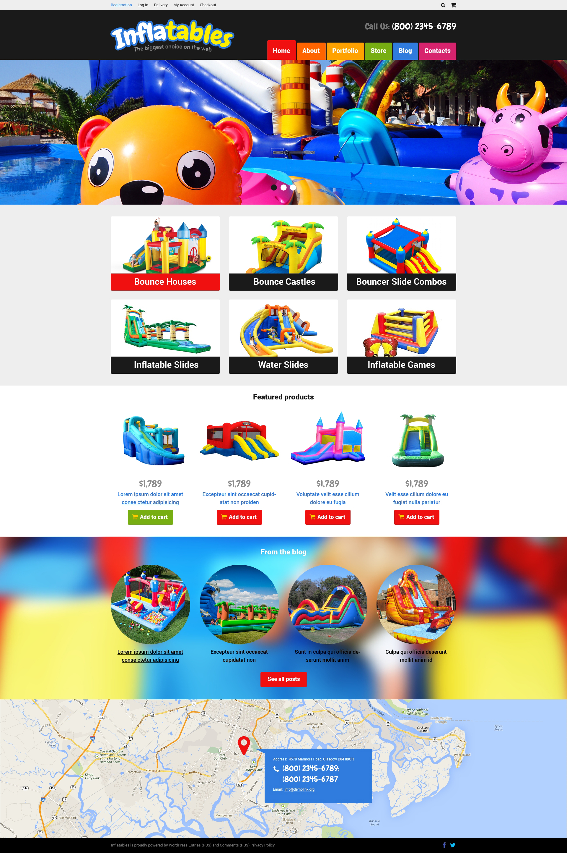 Trampolines  Bouncers Store WooCommerce Theme
