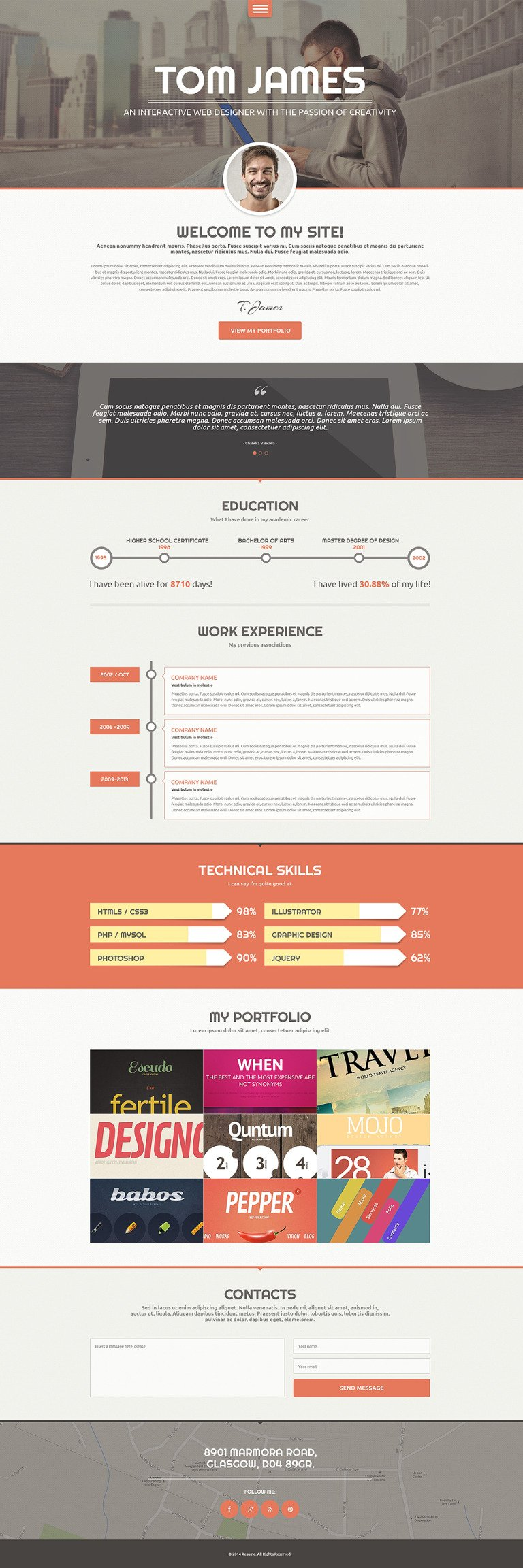 Web Designer CV WordPress Theme New Screenshots BIG