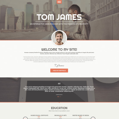 Resume Templates 1 Page Responsive Wordpress Resume Themes