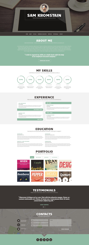 Wordpress Theme 49157 Für Designer Portfolio
